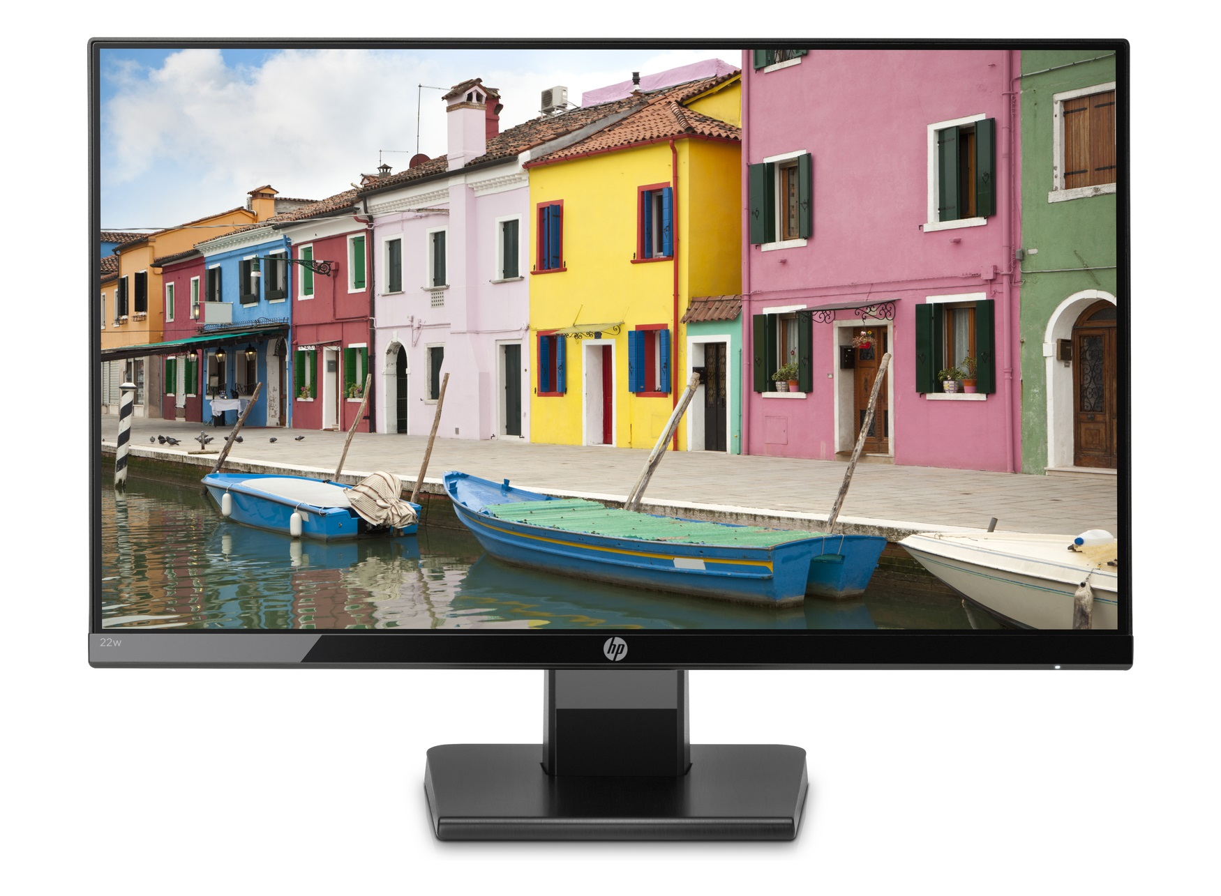 Монитор 21.5″ HP 22w, LED IPS, FHD (1920 x 1080), Черен (1CA83AA)