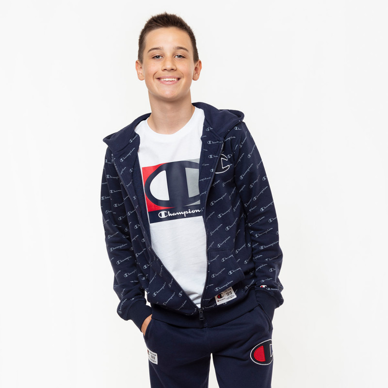 CHAMPION Суитшърт BOYS ALL OVER FULL ZIP HOODY Размери-XXS/XS/S/M/L/XL