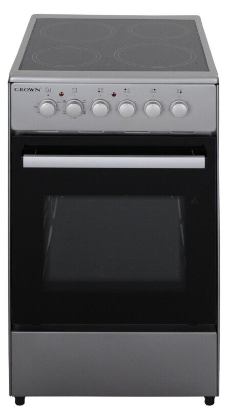 Готварска печка Crown CEC-5060V IX , INOX , Керамични