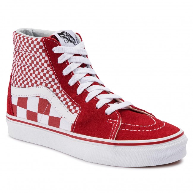 Сникърси VANS Sk8-Hi VN0A38GEVK51 (Mix Checker) CHili Pepper/True White