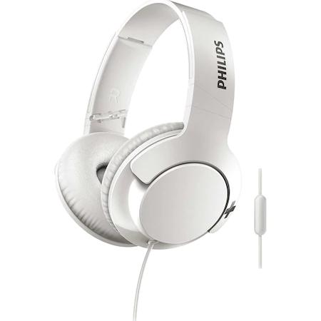 Слушалки Philips SHL3175WT/00, BASS+, On-Ear, Бели