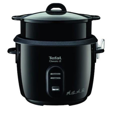 Мултикукър с готвене под налягане Tefal RK103811, 600W, 3 програми, Капацитет 5 л, Функция за загряване, Готвене на пара, Черен