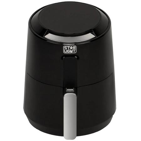 Фритюрник с горещ въздух Star-Light DAFB-2613BL, 1300W, 2.6 л, Цифрово управление, 8 предварително зададени програми, Черен