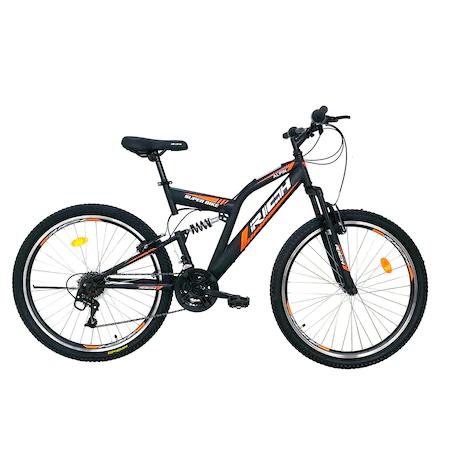 Велосипед MTB Rich 26″ R2649A FS, Черен/Оранжев
