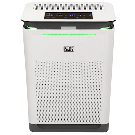 Пречиствател на въздух Star-Light APH-4250HW, 420 m3/h, 6 нива на филтрация, Сензор PM 2.5, Индикатор качество на въздух, Функция овлажнител, Таймер, Режим Auto, Бял
