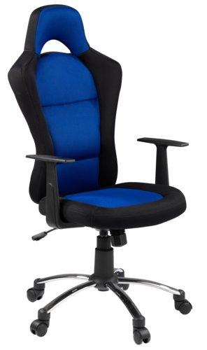 Геймърски стол SNERTINGE черен/син