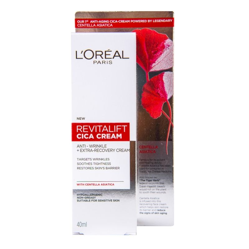 L'OREAL PARIS REVITALIFT CICA CREAM DAY CREAM Крем за лице ANTI-WRINKLE, 40 мл