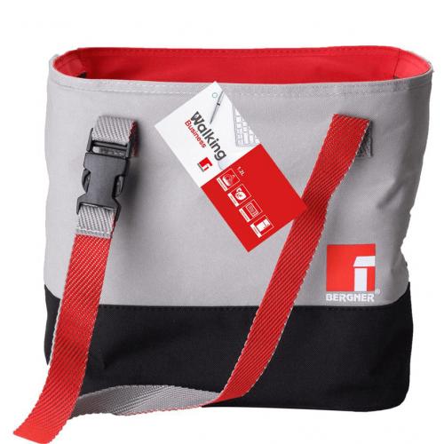 Термо чанта за обяд с червени акценти + кутия с разделения
