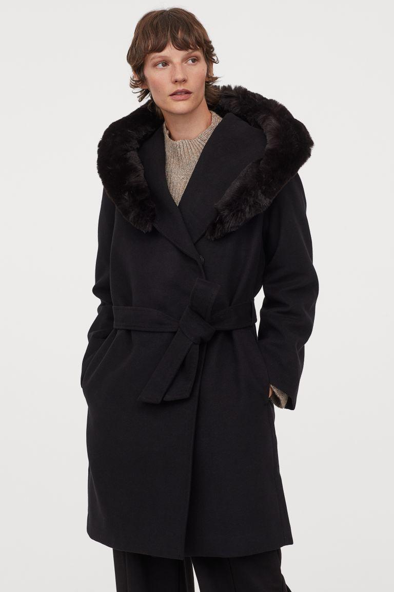Палто с качулка H&M