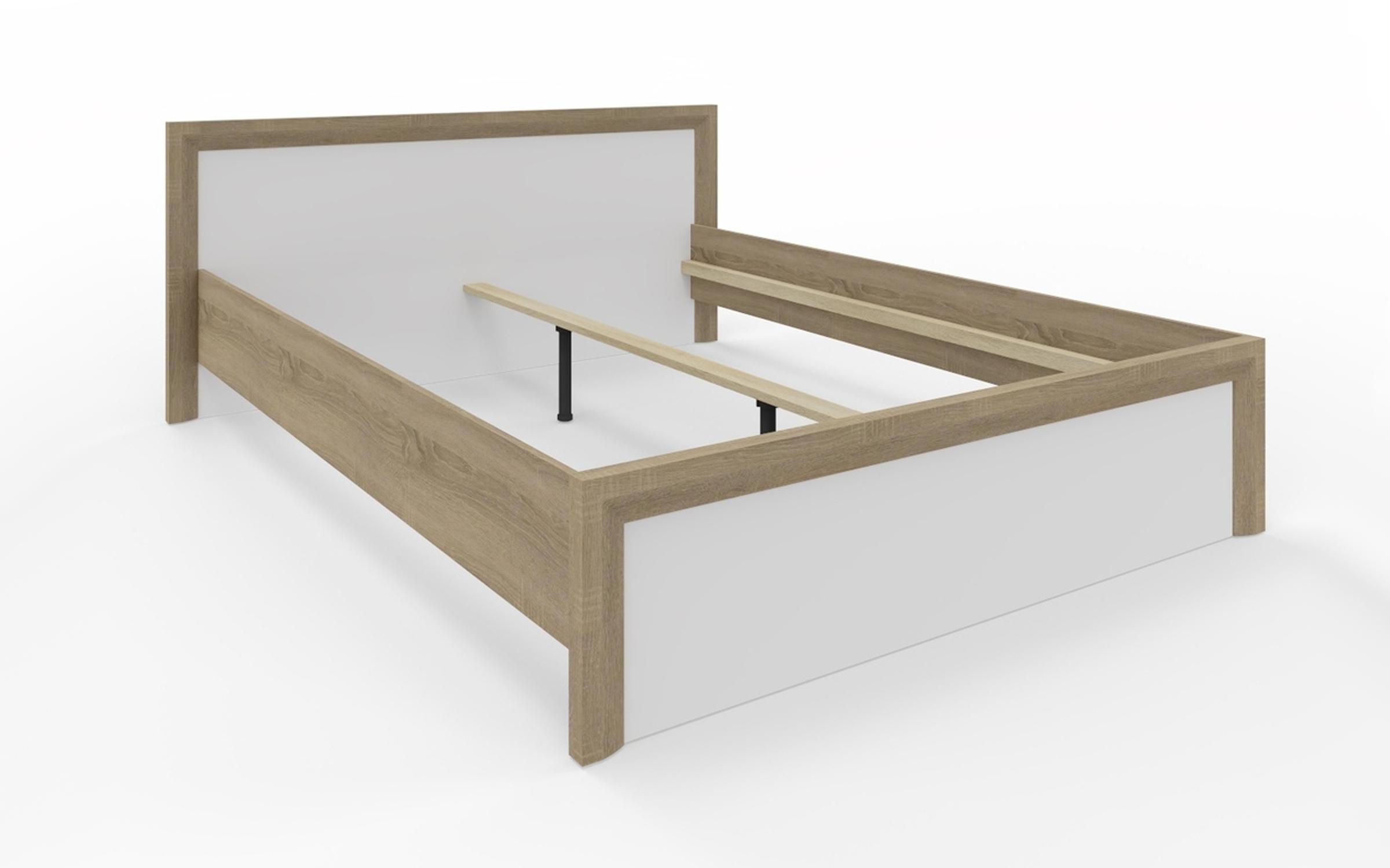 Спалня Скайлайн за матрак 160/200 , сонома трюфел + бяло