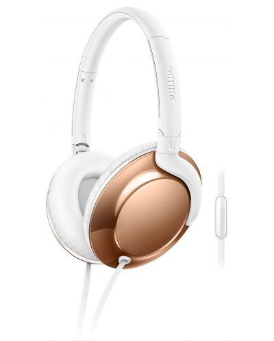 Слушалки Philips SHL4805RG Flite Everlite – бели/златисти