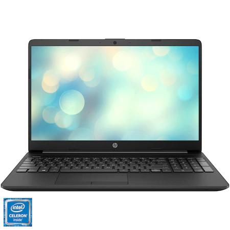 Лаптоп HP 15-dw1018nq, 15.6″, Intel® Celeron® N4020, RAM 4GB, SSD 256GB, Intel® UHD Graphics, Free DOS, Jet Black