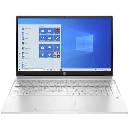 Лаптоп HP Pavilion 15-eh0026nq, 15.6″, AMD Ryzen™ 5 4500U, RAM 8GB, SSD 256GB, AMD Radeon™ Graphics, Microsoft Windows 10 Home, Natural silver
