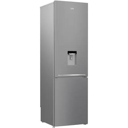 Хладилник с фризер Beko RCSA406K40DXBN, 386 л, Клас A++, Диспенсър за вода, H 202.5 см, Сребрист