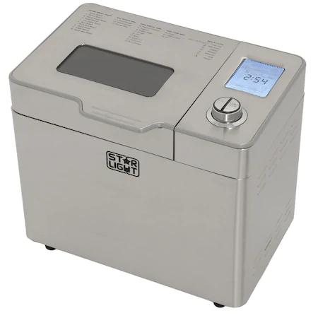 Хлебопекарна Star-Light MPD-550SS, 12 програми, 550W, Display, Control Digital, Отделение за семена, Inox