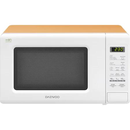 Микровълнова фурна Daewoo KOR-6S2BWO, 20 литра, 800 W, Дигитална, Бяла / Оранжева