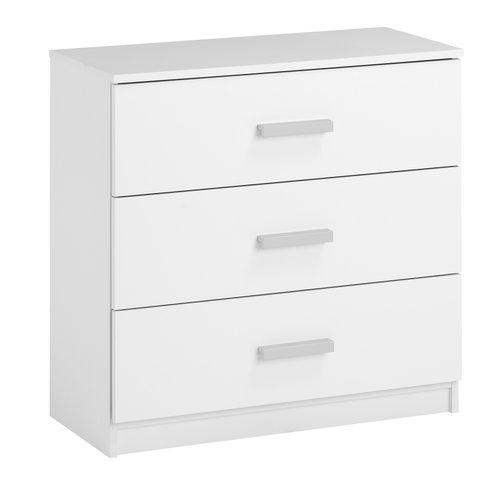 Скрин KABDRUP 3 чекмеджета, бял