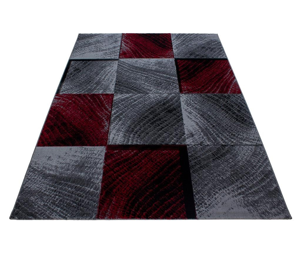 Килим Plus Waved Squares Red 160×230 см