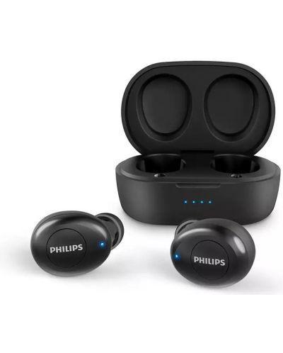 Безжични слушалки Philips TAT2205 с микрофон, TWS, черни