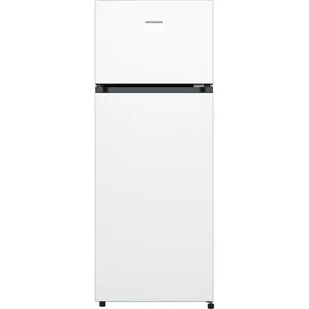 Хладилник Heinner HF-205F, 205 л, Клас A+, LED осветление, 3 стъклени рафта, H 143.4 см, Бял