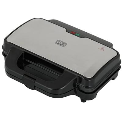 Тостер за сандвичи Star-Light SMH-900W, 900 W, Черен/Инокс