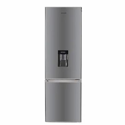 Хладилник с фризер Heinner HC-H273XWDF+, 260 л, Клас A+, LED осветление, Диспенсър за вода, H 176 см, Inox