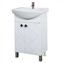 Долен PVC шкаф Макена Орбита за баня с мивка 55х85х42см