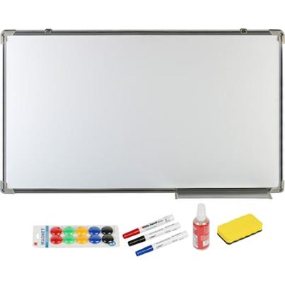 Конферентна дъска whiteboard A+, Магнитна, 600 x 900 мм и аксесоари, маркер, гъба, спрей, магнити