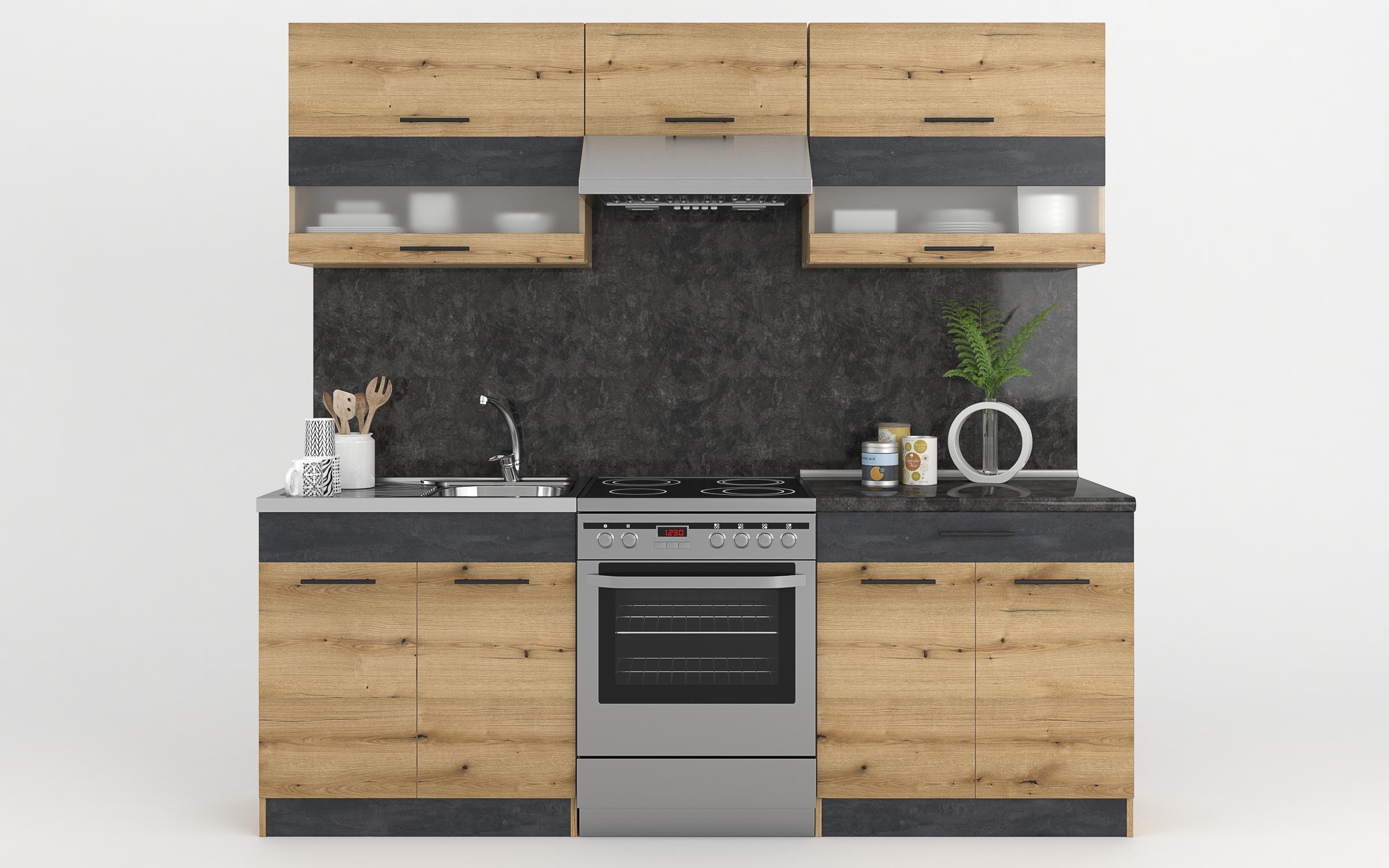 Кухня Селект Делукс, дъб Евок + Magma