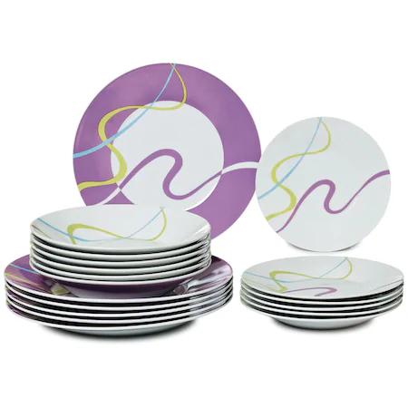 Сервиз за хранене ART of Luxury Ware, 18 части, Multicolor