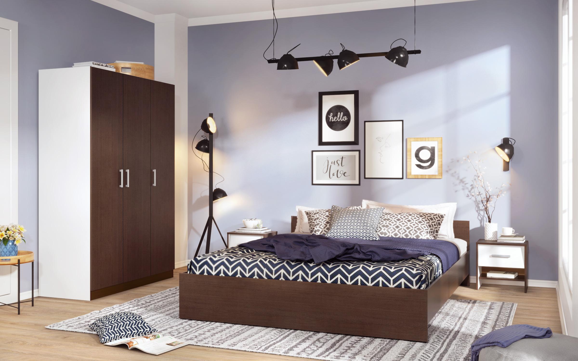 Спален комплект Харизма, венге + бяло