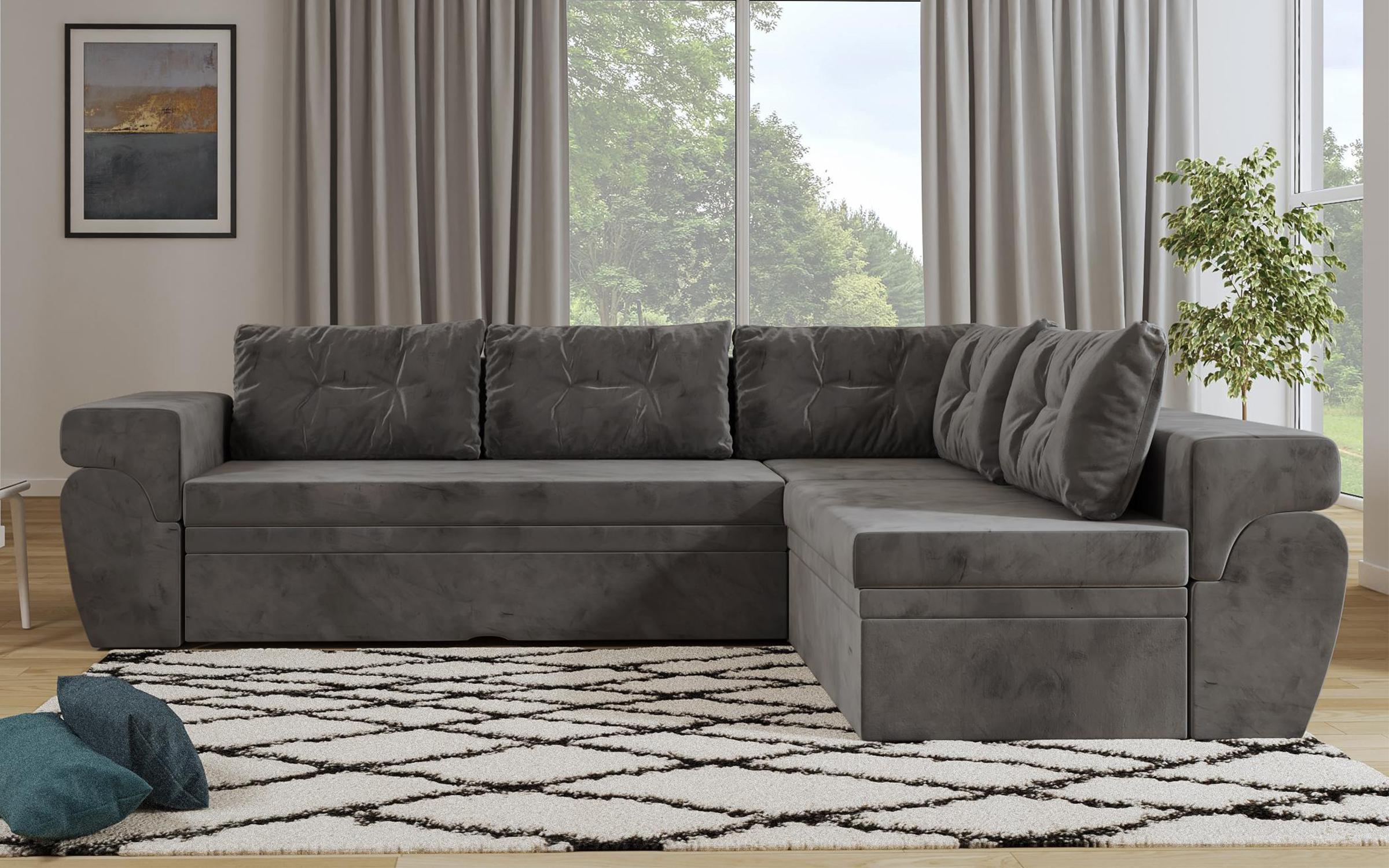 Разтегателен диван Маракай, сив