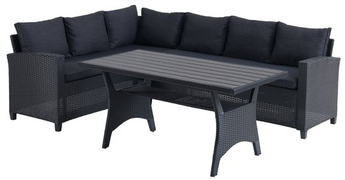 Комплект мебели ULLEHUSE 6 места черен