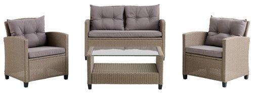 Комплект мебели MORA 4 места, натурал