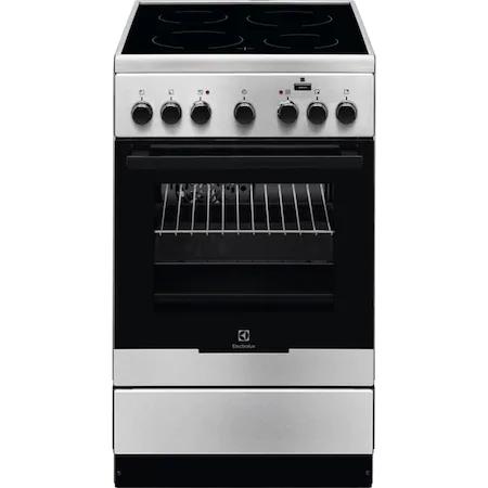 Готварска печка Electrolux EKC52950OX, Електрическа, Керамичен котлон, 4 нагревателни зони, SteamBake, Таймер, Осветление на фурната, Grill, Клас A, 50 см, Inox