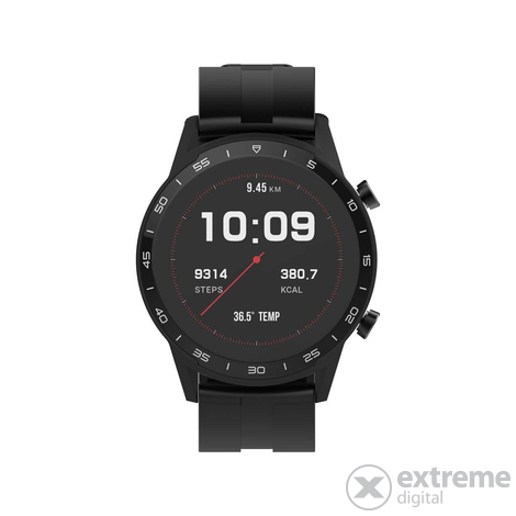 Смарт часовник Sweex SWSW001BK с измерване на телесната температура, черен