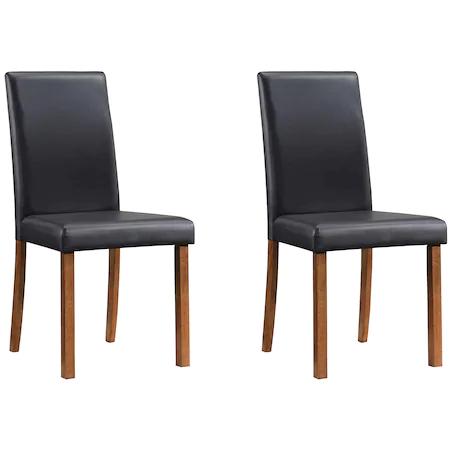 Комплект 2 стола Kring Minimal за кухня, 44.5×57.5×91.5 см, Черен