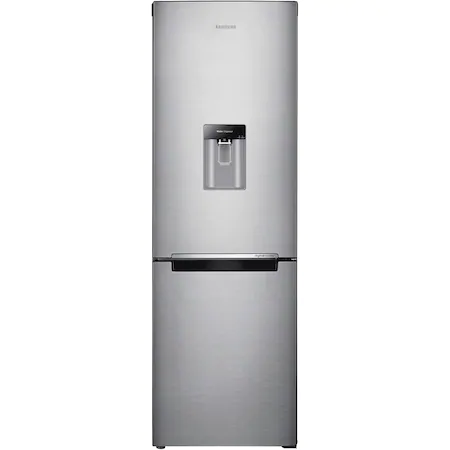 Хладилник с фризер Samsung RB31FWRNDSA, 308 л, Клас F, Full No Frost, Диспенсър за вода, Компресор Digital Inverter, H 185 см, Сребрист