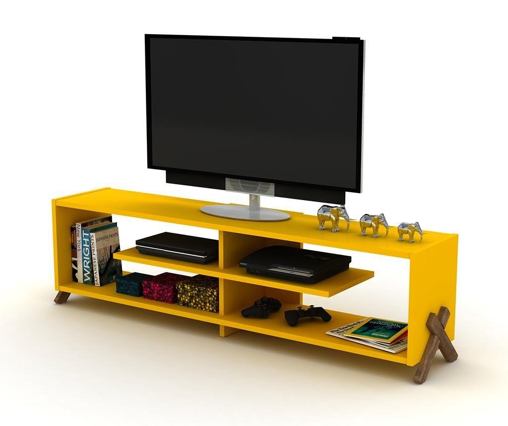 Комода TV Kipp Walnut Yellow
