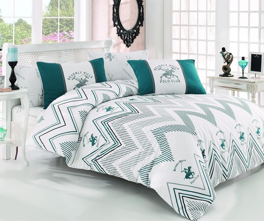 Комплект спално бельо Кing Ranforce Brigitte Green White