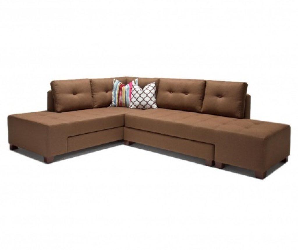 Разтегателен ляв ъглов диван Manama Brown