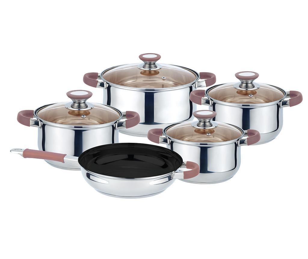 Комплект съдове за готвене Muhler Brown 9 части