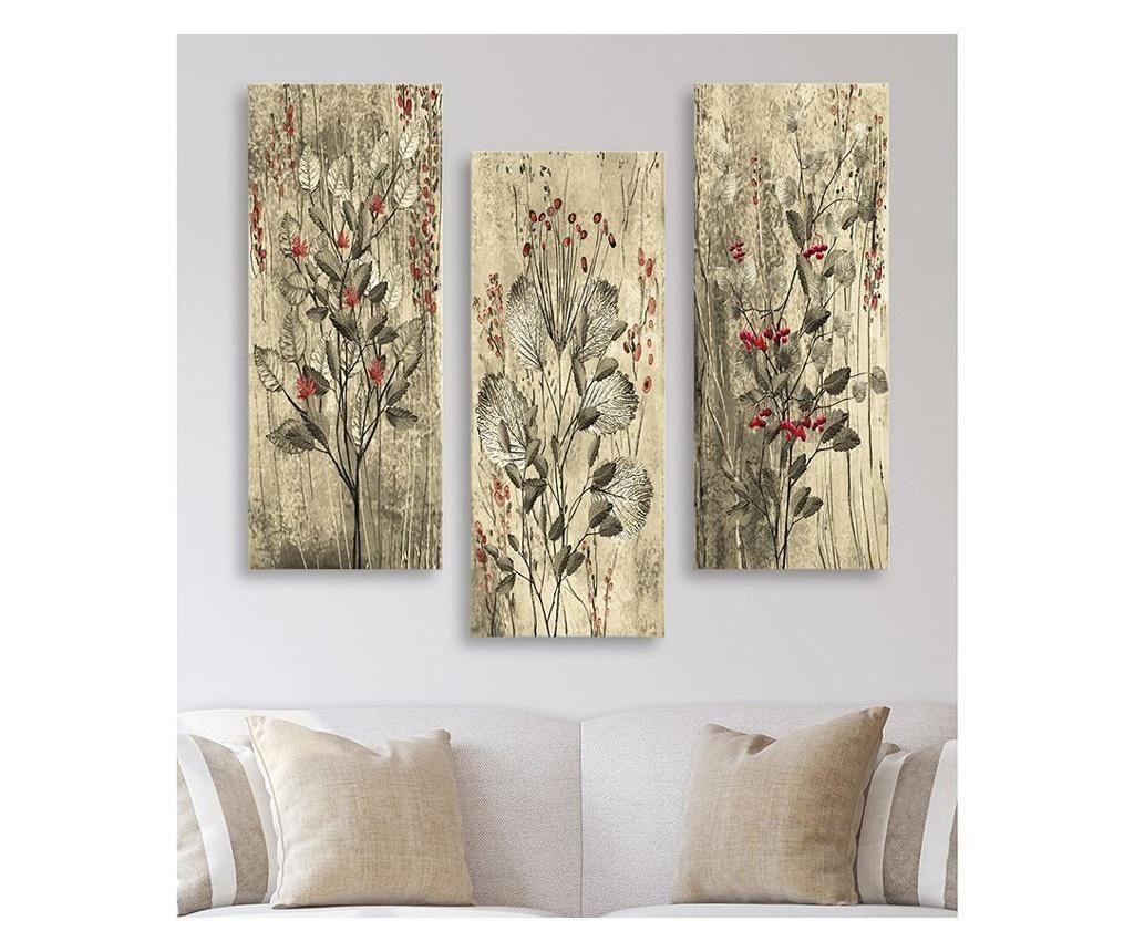 Комплект 3 картини Vintage Flowers