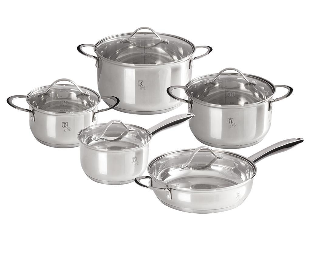 Комплект съдове за готвене Silver Jewelry от 10 части