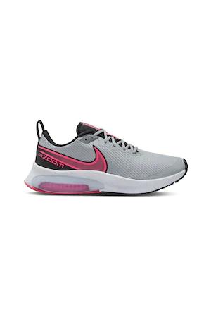 Спортни обувки Nike  AIR ZOOM ARCADIA с релефна повърхност, Светлосив/фуксия/черен