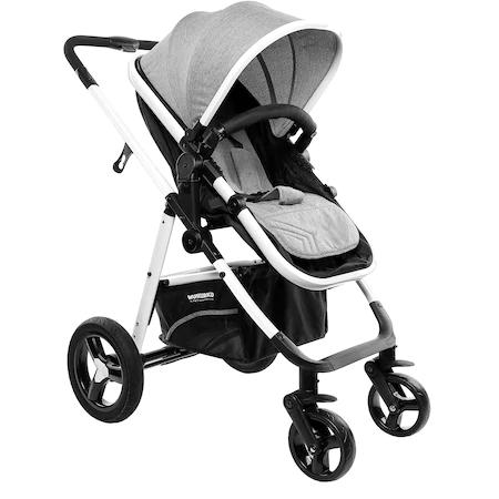 Детска количка Wunderkid 2in1, Калъф за крачета, Сива/Черна