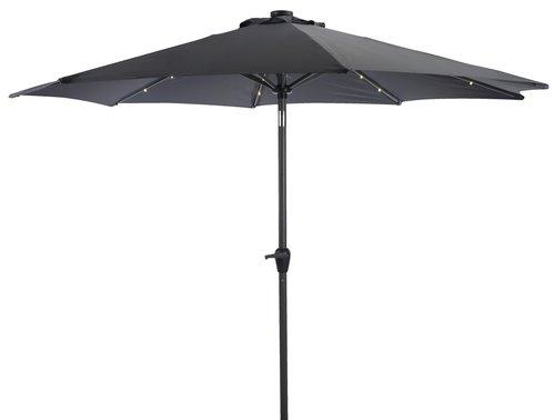 Чадър ASKIM Ø300 см LED сив