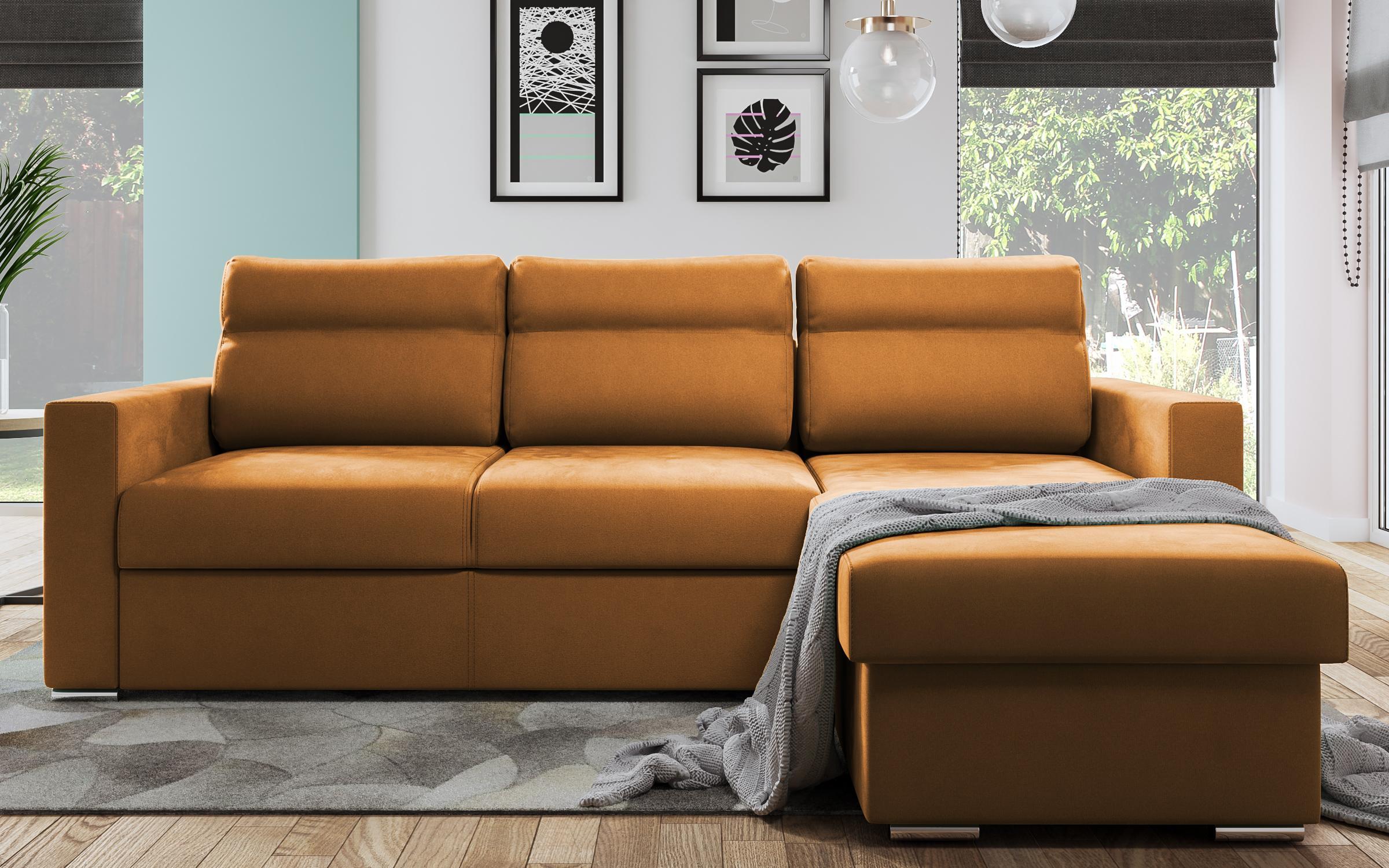Разтегателен диван Валеон , оранжев