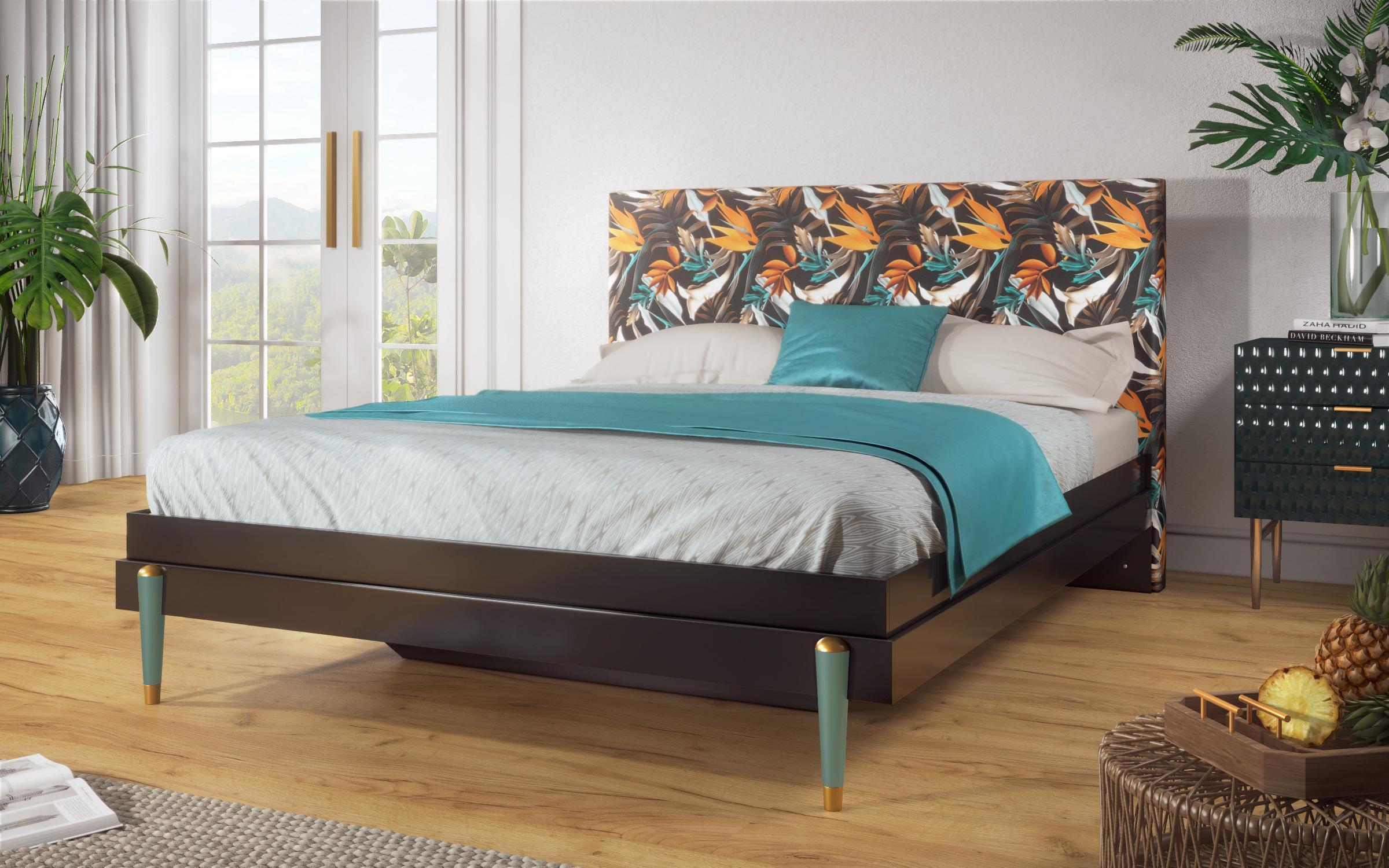 Спалня Тропикана , черен гланц