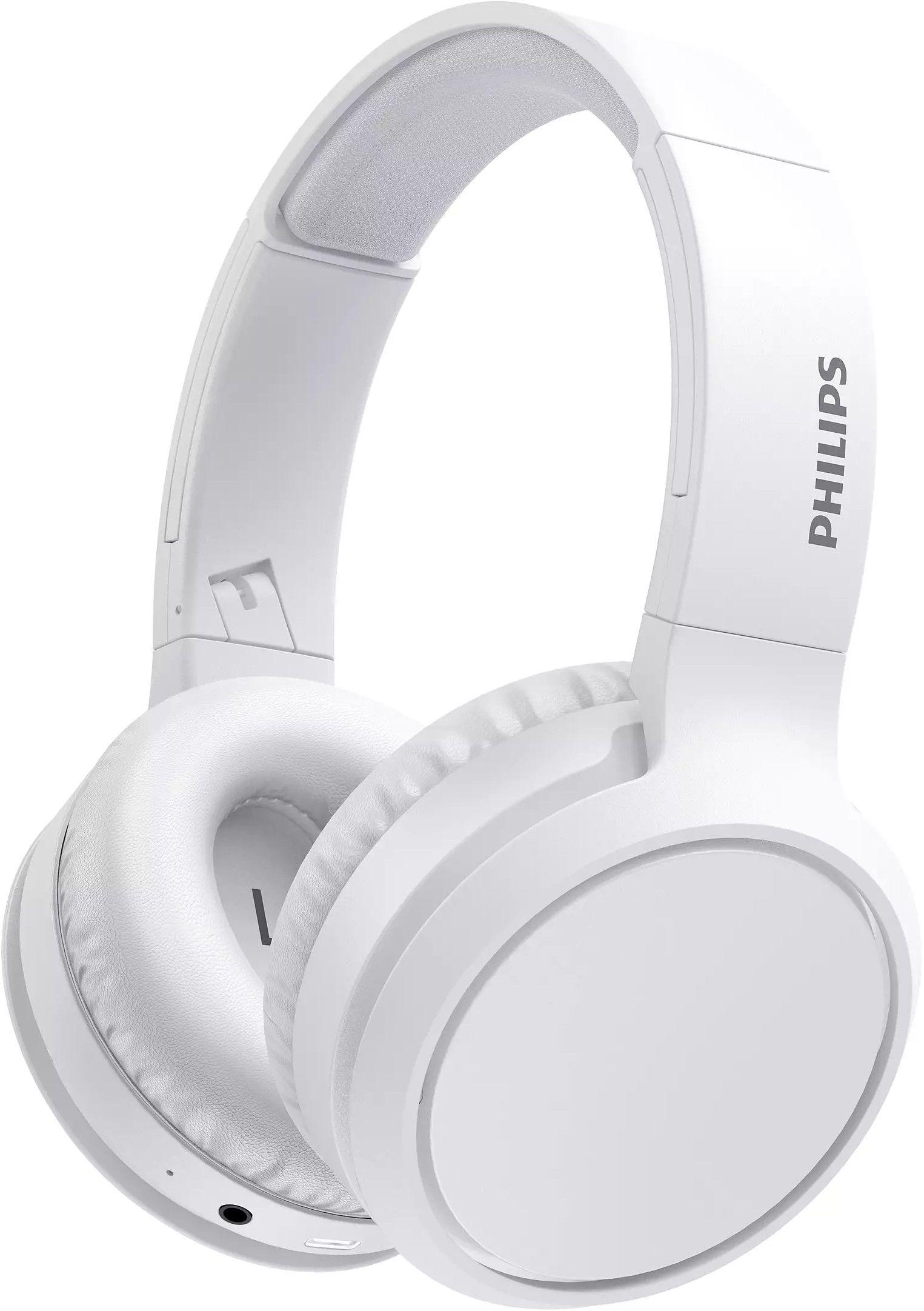 Безжични слушалки Philips TAH5205WT с микрофон, бели
